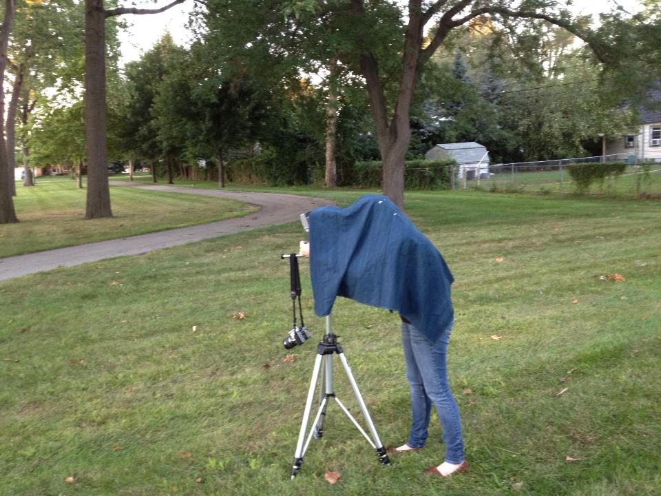 "On Location Shooting, Will enjoyed how goofy I looked with my ""blanket""."